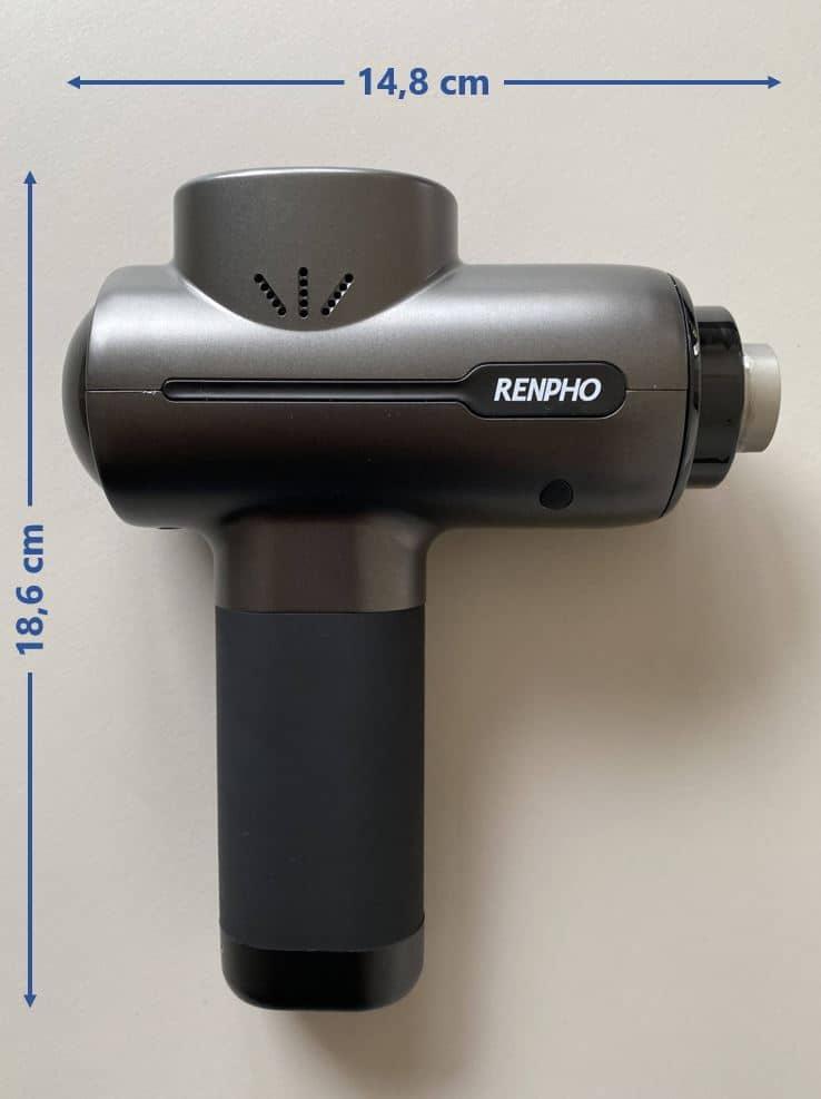 Renpho Massagepistole Maße